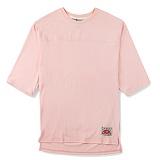 [핍스] PEEPS unbalance 3/4 short sleeved TEE(pink)_핍스 반팔티