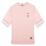 [핍스] PEEPS dont touch 3/4 short sleeved TEE(pink)_핍스 반팔티