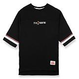 [핍스] PEEPS board pup 3/4 short sleeved TEE(black)_핍스 반팔티