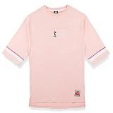 [핍스] PEEPS board pup 3/4 short sleeved TEE(pink)_핍스 반팔티