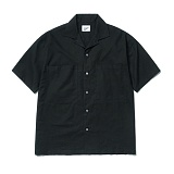 파르티멘토 - 2pocket Linen Half Shirts Black 반팔셔츠