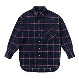 프레쉬프룻 - FRFR EYELET CHECKSHIRTS NAVY 이기광 착용 셔츠