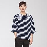 [모니즈] 스트라이프 나그랑 7부 티셔츠 (1color) TSL556