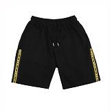 VETEZE - Retro Side Point 1/2 Pants (BK&YL) 반바지