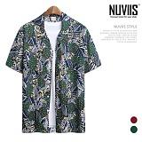 뉴비스 - 나뭇잎 하와이안 반팔셔츠 (RW112SH)