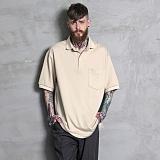 [하프크라이즈] HALB KREIS - TA-105 루즈핏 카라티_BG 반팔티 티셔츠