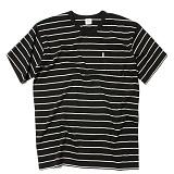 [세인트페인]SAINTPAIN - SP 17S STRIPE TEE SS TYPE B-BLACK 반팔티 티셔츠