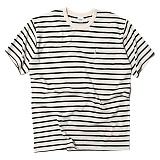 [세인트페인]SAINTPAIN - SP 17S STRIPE TEE SS TYPE F-WHITE 반팔티 티셔츠