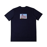 [아이넨]EINEN-Peerless Wellas 1/2 T-Shirts Navy 반팔티