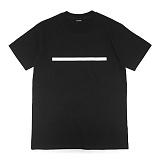 [레이쿠] reiku lineb short sleeve black 반팔티