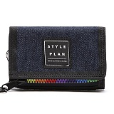 [스타일플랜] STYLEPLAN MIRROR RAINBOW DENIM WALLET (BLUE)_3단지갑
