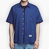 [아파트먼트]32.5Rose Shirts - Navy 로즈 반팔셔츠 남방