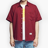[아파트먼트]32.5Rose Shirts - Burgundy 로즈 반팔셔츠 남방