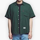 [아파트먼트]32.5Rose Shirts - Green 로즈 반팔셔츠 남방