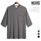 뉴비스 - 덤블워싱 포켓 7부티셔츠 (BS001TS)