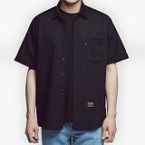 [아파트먼트]Usual Essential Shirts - Black 반팔셔츠 남방