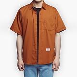 [아파트먼트]Usual Essential Shirts - Orange 반팔셔츠 남방
