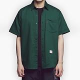 [아파트먼트]Usual Essential Shirts - Green 반팔셔츠 남방