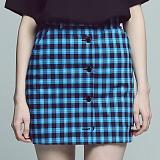 [아파트먼트]Blusher Skirt - Blue 체크 스커트 치마