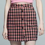 [아파트먼트]Blusher Skirt - Pink 체크 스커트 치마