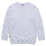 [고디크] GOTHICQUE - Flower niddlework sweat shirt (WHITE) 맨투맨 스��셔츠