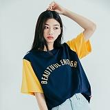 [모티브] MOTIVE - COLOR BLOCK SST NAVY YELLOW 반팔티 티셔츠
