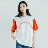 [모티브] MOTIVE - COLOR BLOCK SST WHITE RED 반팔티 티셔츠