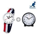 캉골(KANGOL) KG11032_3 DRIVE 나토밴드시계 + 탁상시계 나토밴드 시계