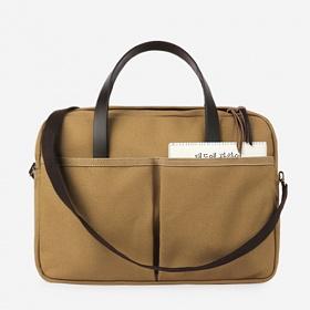 [모노노] MONONO - Vintage Brief Bag Super Oxford_Beige 캔버스 브리프 케이스 토트백