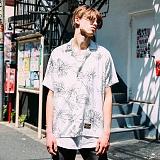 [FLUKE]17 S/S 플루크 marble 비스코스 레이온 셔츠 FLS017Z301_WH