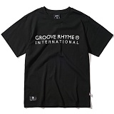 [그루브라임]Grooverhyme - 2017 INTERNATIONAL MAP (BLACK) [GT070F23BK] 반팔티 티셔츠