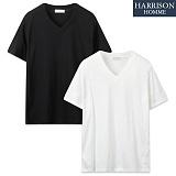 [해리슨] 슬라브 브이넥 반팔 티셔츠 WMD1014
