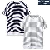 [해리슨] 단가라 레이어드 반팔 라운드 티셔츠 WMD1012
