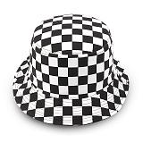 슈퍼비젼 - REVERSIBLE BUCKET HAT BLACK N CHECKERS 리버시블 버킷햇