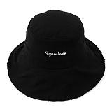 슈퍼비젼 - WASHING BUCKET HAT BLACK 버킷햇