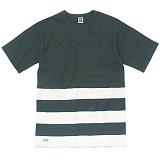 [언커먼팩터스]UFS-RAW EDGE COLOR BLOCK STRIPE TEE 로우 엣지 컬러블록 스트라이프 반팔 반팔티 티셔츠