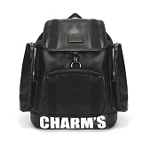 [참스]CHARMS - PUBERTY Leather backpack BLACK 레더 포켓 백팩