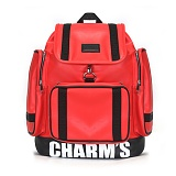 [참스]CHARMS - PUBERTY Leather backpack RED 레더 포켓 백팩