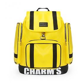 [참스]CHARMS - PUBERTY Leather backpack YELLOW 레더 포켓 백팩 신학기 새학기 학생가방