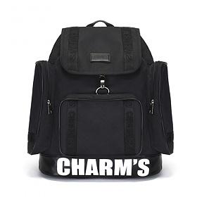 [참스]CHARMS - PUBERTY Cordura backpack BLACK 코듀라 포켓 백팩 학생가방