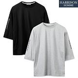 [해리슨] LS622 7부 소매 레터링 티셔츠 TOS1072