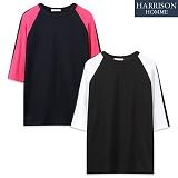 [해리슨] 찐칼라 나그랑 반팔 티셔츠  MJB1256