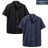 [해리슨] 트윈 스트라이프 노카라 셔츠 RGM1233