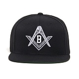 BLACK SCALE Compass Snapback (Black) 스냅백
