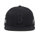 BLACK SCALE B Logo Snapback (Black) 스냅백