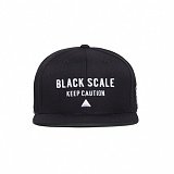 BLACK SCALE Hazard Snapback (Black) 스냅백