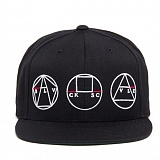 BLACK SCALE Golden Shapes Snapback Black  스냅백