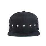 BLACK SCALE Star Spangle Snap Back BLACK 스냅백