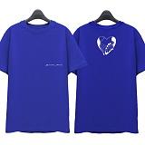 [슈퍼레이티브] superlative - [SST315] AMOR MIO 반팔 티셔츠 - 반팔 티셔츠 - 블루