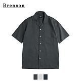 브렌슨 - 오픈카라 포켓 셔츠